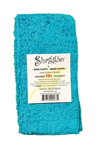 Tease Me Turquoise Shaggies by Janey Lynn's Designs.  The super soft multipurpose cloth that goes with EVERY decor.