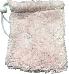 Barely Pink Shaggie Soap Sac